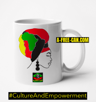 """KITAMBALA BLACK QUEEN"" by A-FREE-CAN.COM - (Mug)"