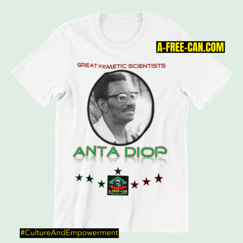 """ANTA DIOP (Great Kemetic Scientists)"" by A-FREE-CAN.COM - (T-SHIRT pour Hommes)"