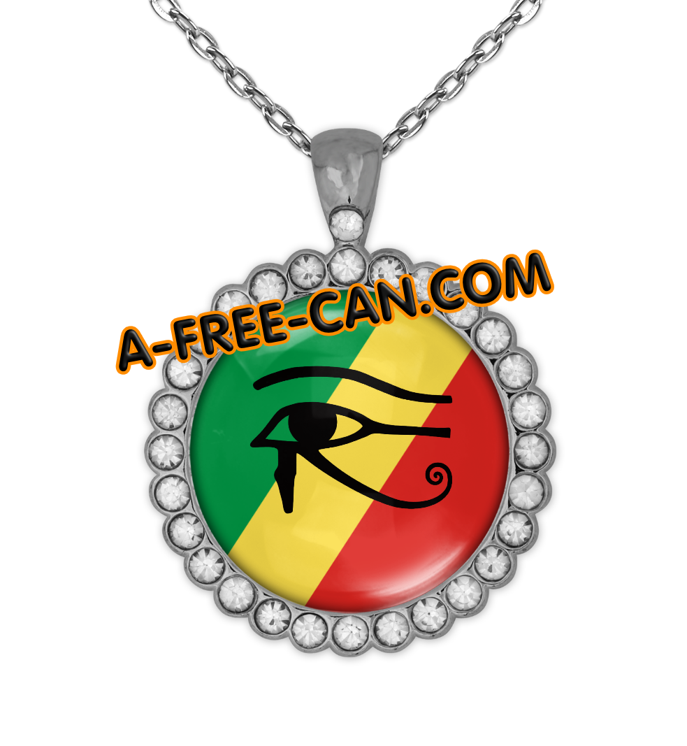 """CONGO MFOA OUDJAT vSLXS"" by A-FREE-CAN.COM - (BIJOUX, Collier CABOCHON Rond)"