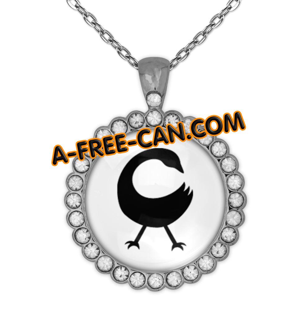 """ADINKRA SANKOFA vSLXS"" by A-FREE-CAN.COM - (BIJOUX, Collier CABOCHON Rond)"