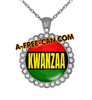 """DRAPEAU PANAFRICAIN KWANZAA vSLXS"" by A-FREE-CAN.COM - (BIJOUX, Collier CABOCHON Rond)"