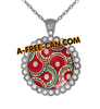 """WAX SALONGO vSLXS"" by A-FREE-CAN.COM - (BIJOUX, Collier CABOCHON Rond)"