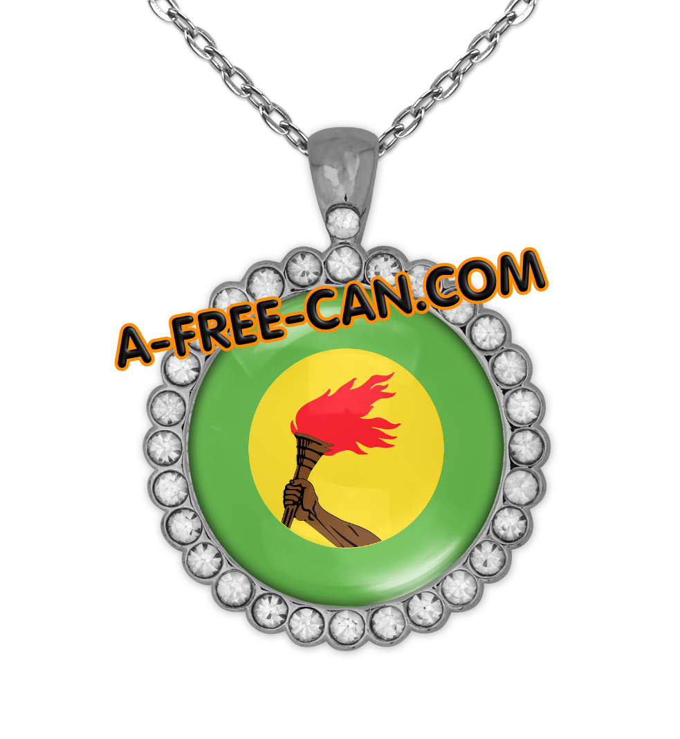 """ZAIRE vSLXS"" by A-FREE-CAN.COM - (BIJOUX, Collier CABOCHON Rond)"