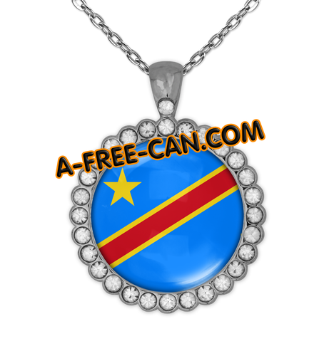"""CONGO KIN vSLXS"" by A-FREE-CAN.COM - (BIJOUX, Collier CABOCHON Rond)"