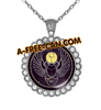 """KHEPER vSLXS"" by A-FREE-CAN.COM - (BIJOUX, Collier CABOCHON Rond)"