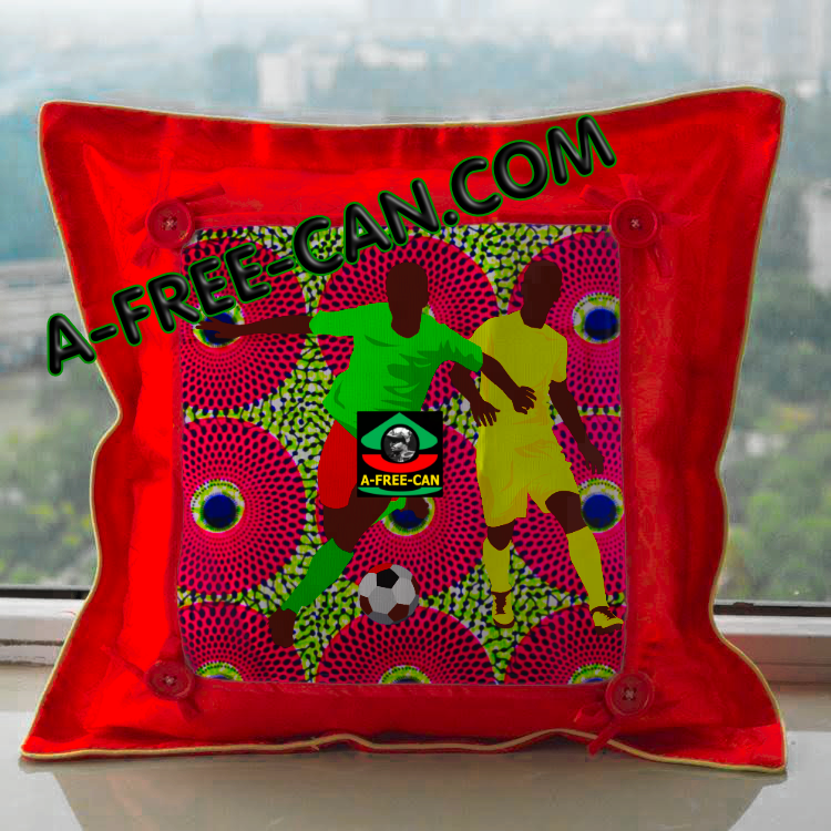 "DÉCO MAISON, Coussin Wax: ""NDEMBÓ v1"" by A-FREE-CAN.COM"
