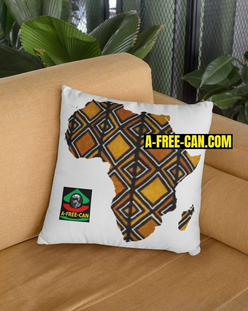 "DÉCO MAISON, Coussin: ""AFRICA BOGOLAN v1"" by A-FREE-CAN.COM"