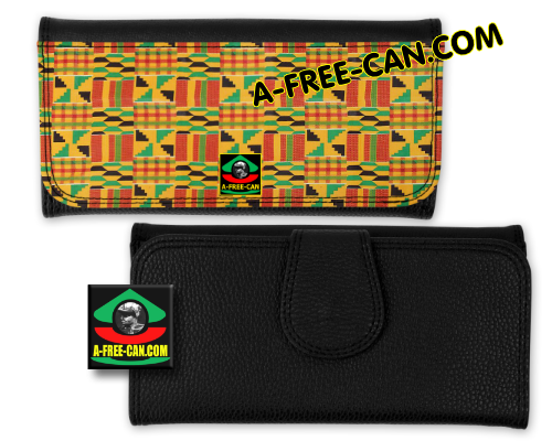"Portefeuille Wax simili cuir: ""KENTE MADRAS"" by A-FREE-CAN"