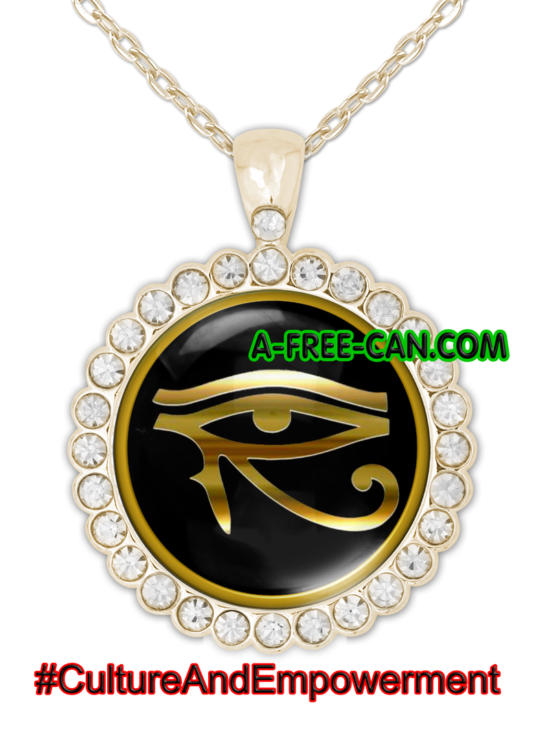 """OUDJAT"" by A-FREE-CAN.COM - (BIJOUX, Collier CABOCHON Rond)"