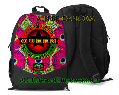 """MWINI POWERFUL QUEEN IN THE WORLD"" by A-FREE-CAN.COM - (Grand Sac à Dos Vitoria)"