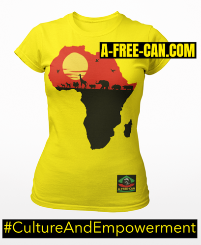 """AFRICA SUN"" by A-FREE-CAN.COM - (T-SHIRT pour Femmes)"