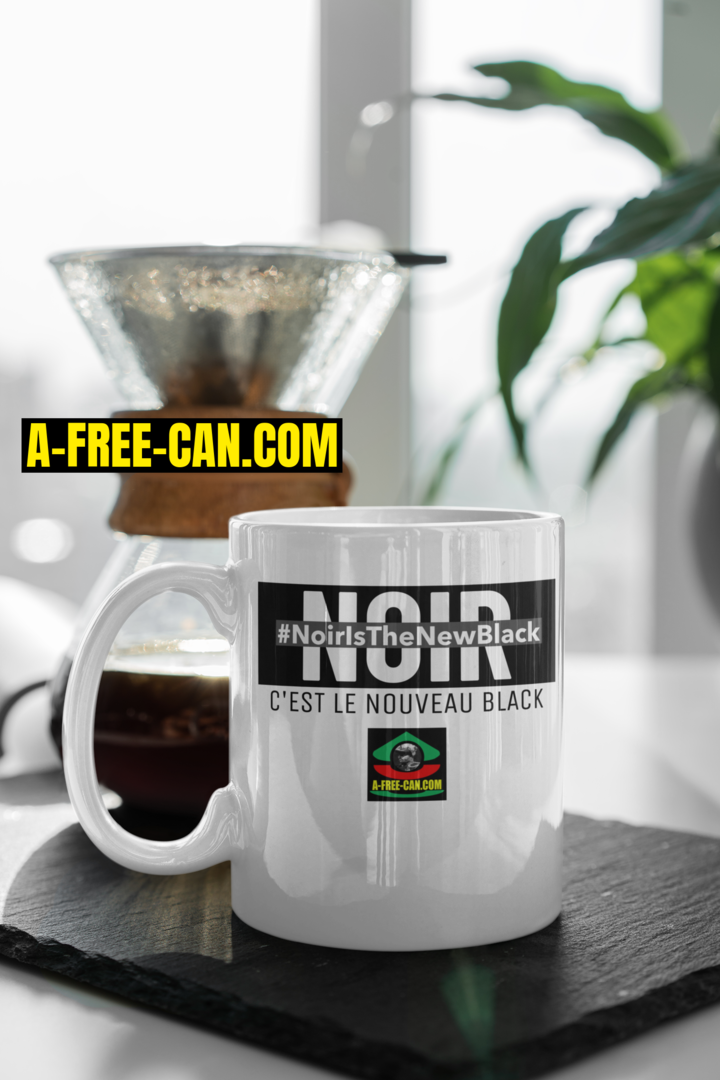 """NOIR IS THE NEW BLACK. Noir, C'est Le Nouveau Black"" by A-FREE-CAN.COM - (Mug)"