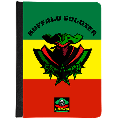 """BUFFALO SOLDIER Black Stars v1 vjr"" by A-FREE-CAN - (Housse Universelle pour Tablettes de 7"" et 8"")"