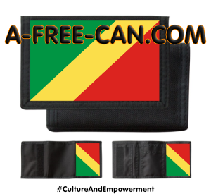 """DRAPEAU CONGO MFOA"" by A-FREE-CAN.COM - (Portefeuilles PSCN)"