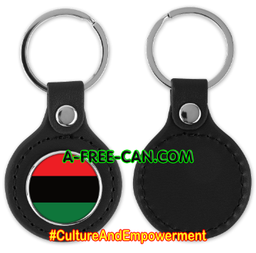 """DRAPEAU PANAFRICAIN"" by A-FREE-CAN.COM - (Porte-clés)"