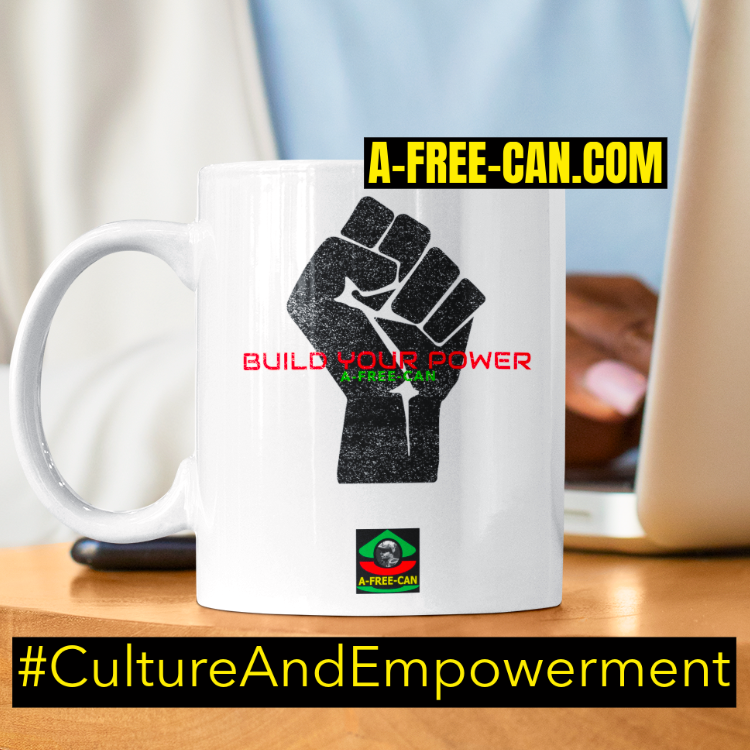 """BUILD YOUR POWER A-FREE-CAN (bp1)"" by A-FREE-CAN.COM - (Mug)"