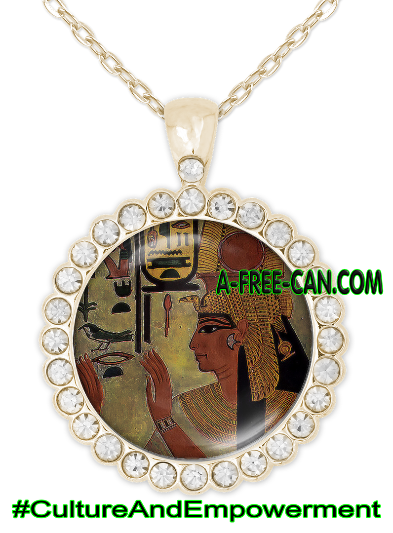 """NEFERTARI"" by A-FREE-CAN.COM - (BIJOUX, Collier CABOCHON Rond)"