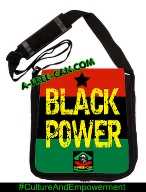 """BLACK POWER (Black Star RBG edit)"" by A-FREE-CAN - (Sac à Bandoulière)"