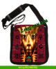 """KING TUT ADINKRA CROWN"" by A-FREE-CAN.COM - (Sac à Bandoulière Madras)"