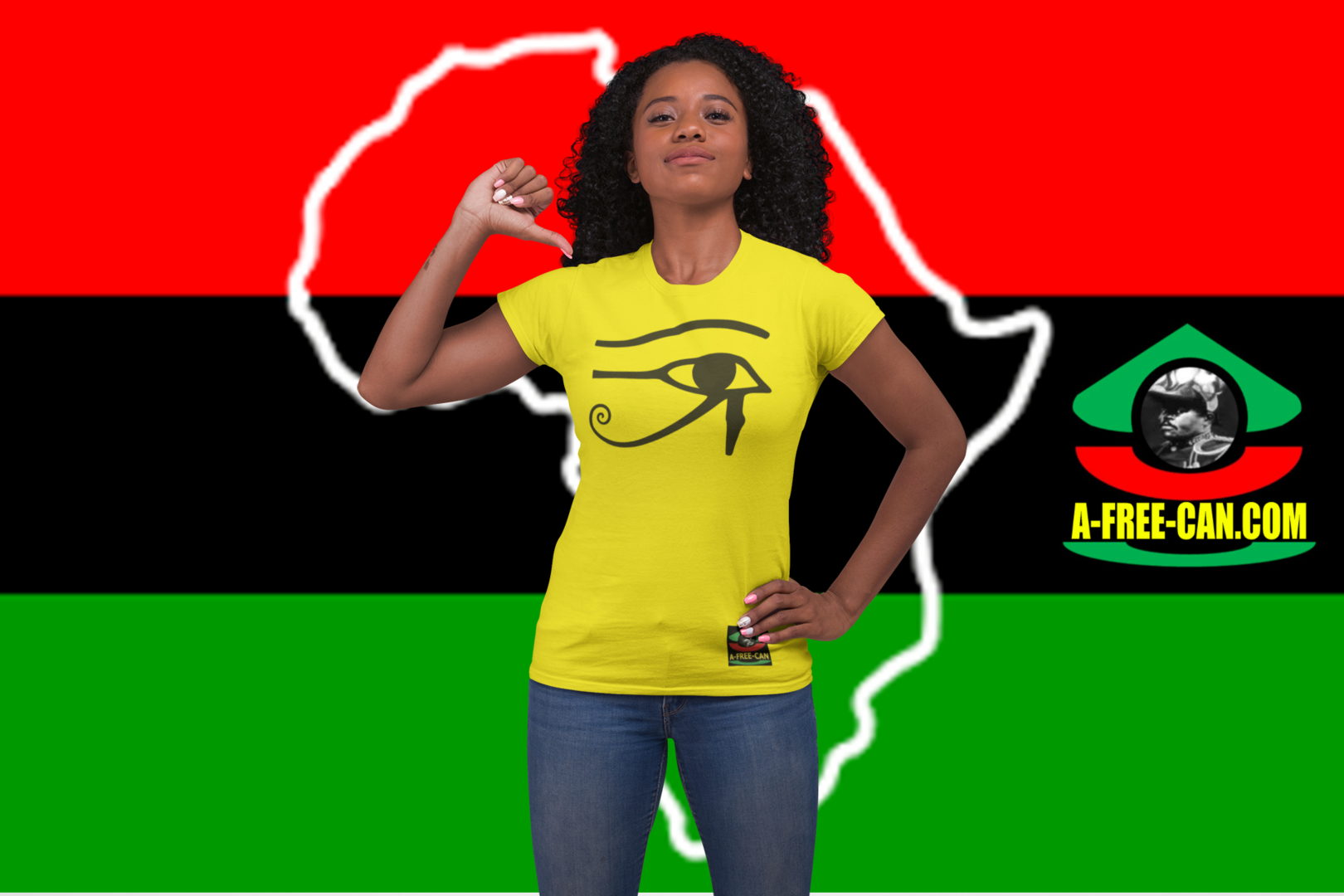 """OUDJAT"" by A-FREE-CAN.COM - (T-SHIRT pour Femmes)"
