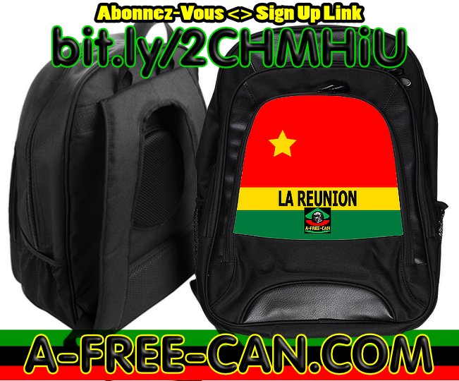 """DRAPEAU DE LA RÉUNION vLR1"" by A-FREE-CAN.COM - (Grand Sac à Dos)"