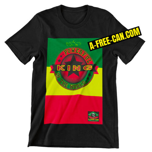 """POWERFUL KING IN THE WORLD vjr SR1"" by A-FREE-CAN - (T-Shirt)"