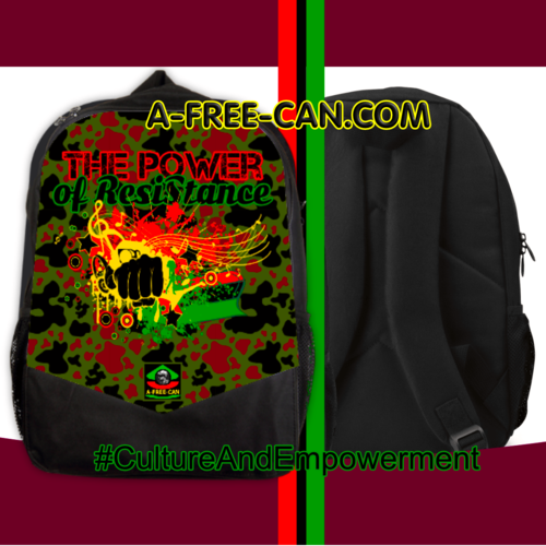 """THE POWER OF RESISTANCE RBG CAMO"" by A-FREE-CAN (Grand Sac à Dos Vitoria)"
