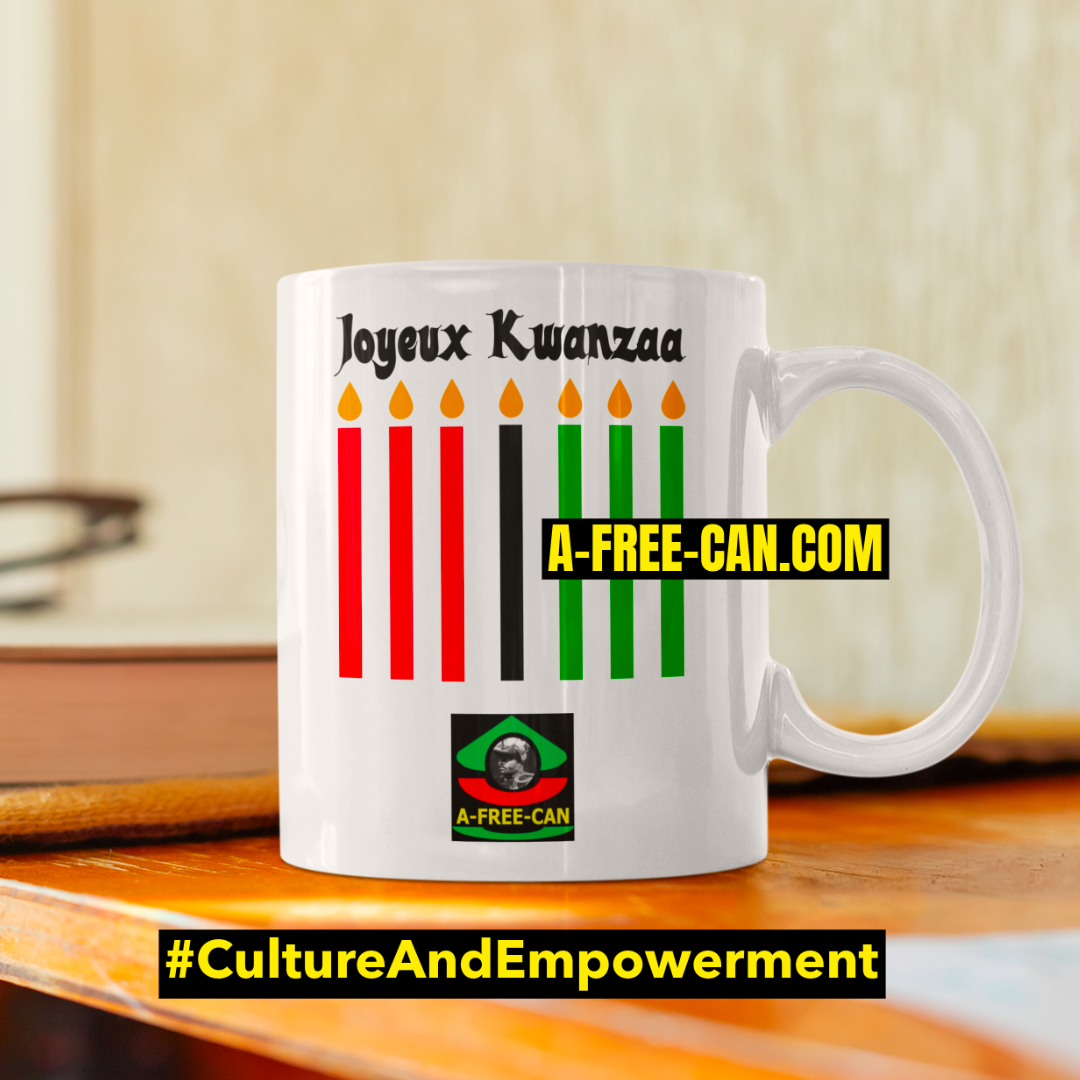 """JOYEUX KWANZAA 1"" by A-FREE-CAN - (Mug)"