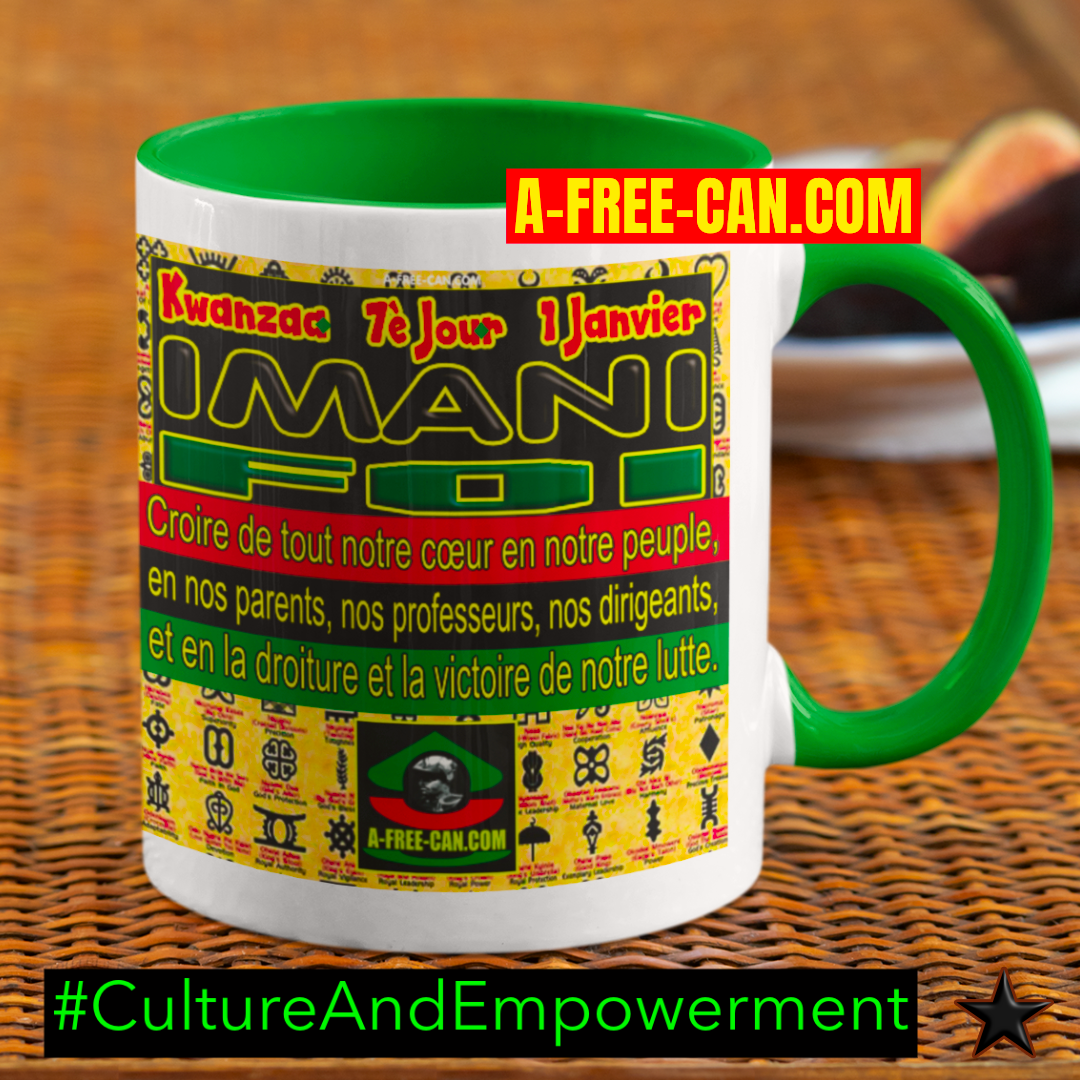 """Kwanzaa IMANI (Foi)"" by A-FREE-CAN - (Mug M1Green)"
