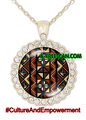 """BOGOLAN MUNGO"" by A-FREE-CAN.COM - (BIJOUX, Collier CABOCHON Rond)"