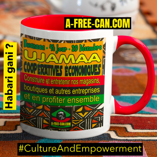"""UJAMAA Coopératives Économiques"" by A-FREE-CAN - (Mug Kwanzaa M1R)"
