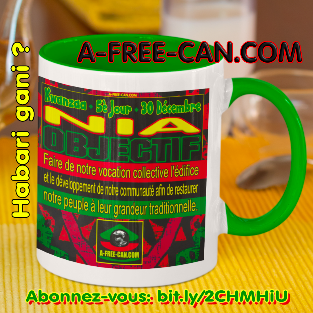 """Kwanzaa NIA (Objectif)"" by A-FREE-CAN - (Mug M1Green)"