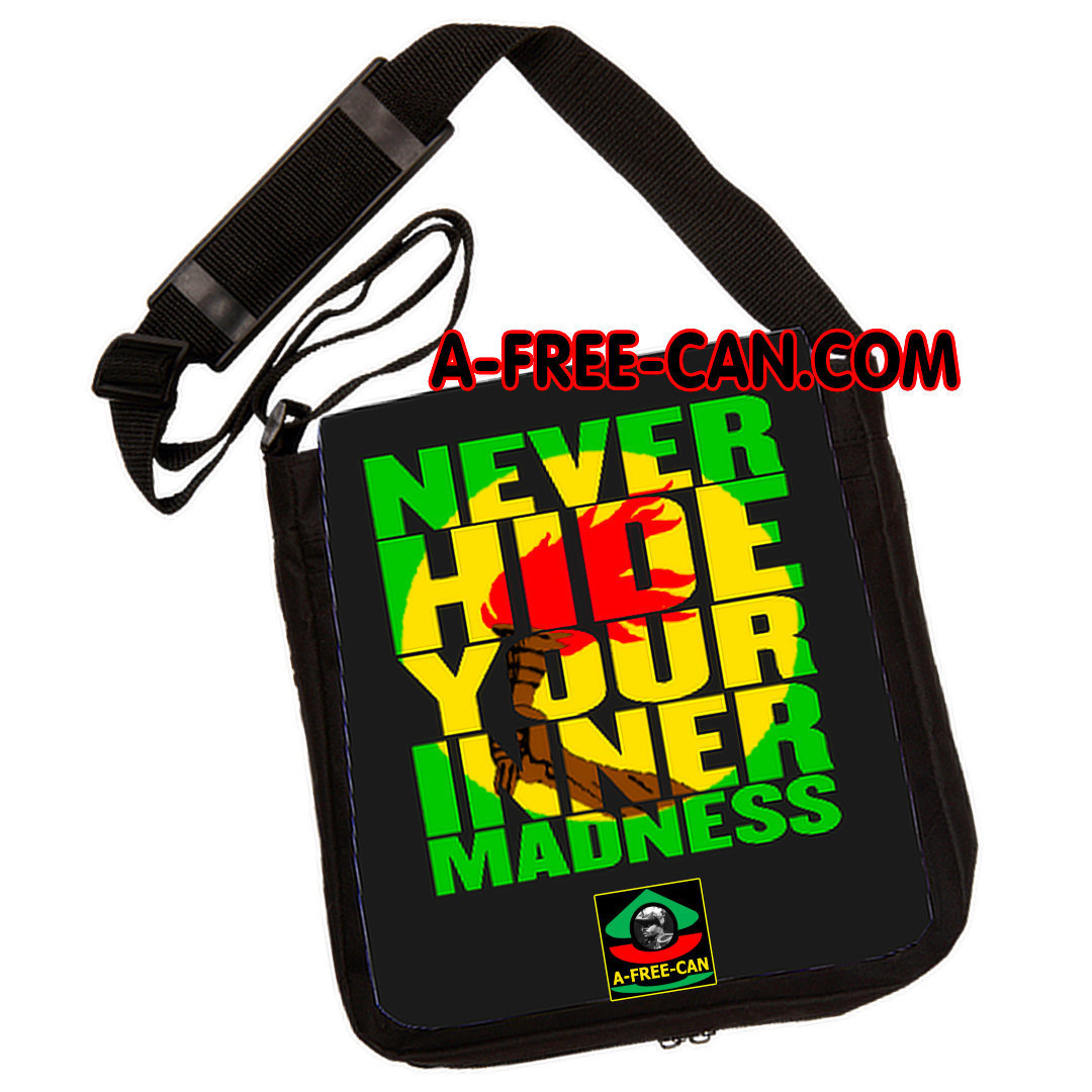 """NEVER HIDE YOUR INNER MADNESS"" by A-FREE-CAN - (Sac à Bandoulière)"