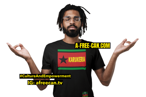 """KARUKERA ETOILE NOIRE"" by A-FREE-CAN - (T-SHIRT pour Hommes)"